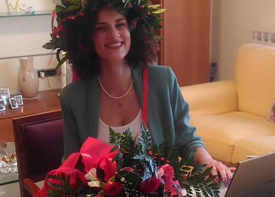COVID-19: VANESSA, REALE LAUREA IN MEDICINA, FESTA VIRTUALE