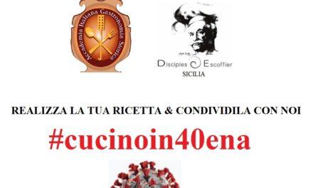 COVID-19: #cucinoin40ena