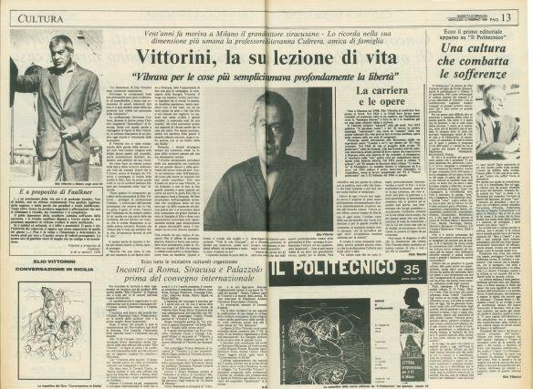 """Elio Vittorini: """"Vedi la mia Siracusa… e senti l'odore della nepita"""""""