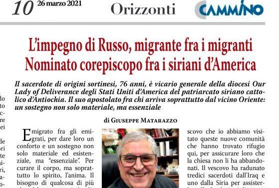 L'impegno di Russo, siciliano migrante fra i migranti: nominato corepiscopo per i siriani d'America