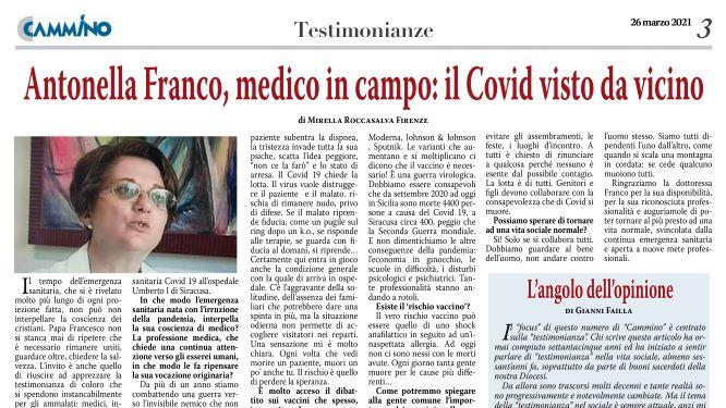 Antonella Franco, medico in campo: Il Covid-19 visto da vicino