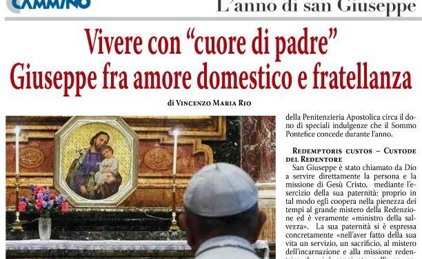 """Primo maggio, san Giuseppe lavoratore: """"Amare con «cuore di padre"""""""