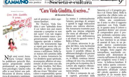 Nuovo libro di Annamaria Corpaci Attinà – Cara Viola Giuditta, ti scrivo…