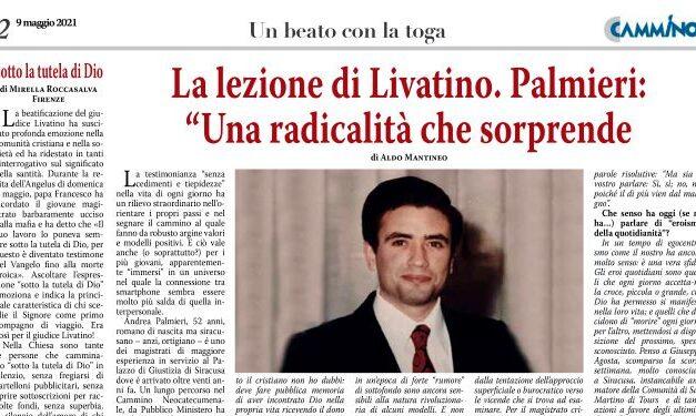 """La lezione di Livatino. Palmieri: """"Una radicalità che sorprende"""""""