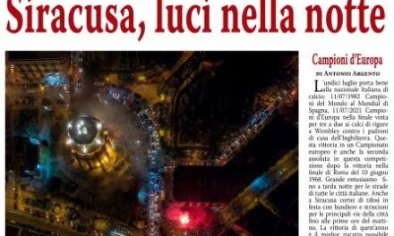SIRACUSA IN FESTA PER LA NAZIONALE CAMPIONE D'EUROPA