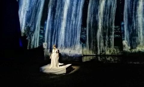 """Parco della Neapolis –""""Il mito di Aretusa"""" fa rivivere la Grotta dei Cordari"""