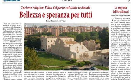 """Turismo religioso, l'idea del parco culturale ecclesiale  """"Bellezza e speranza per tutti"""""""